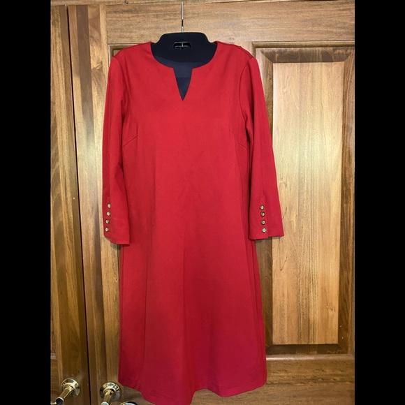 J McLaughlin Red Shift Dress. NWT. XS